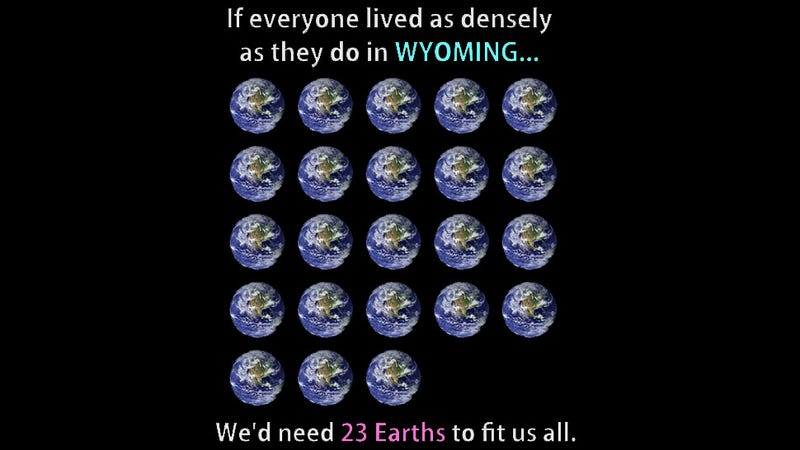How Many Earths Would We Need to Live As Far Apart As Alaskans Do?