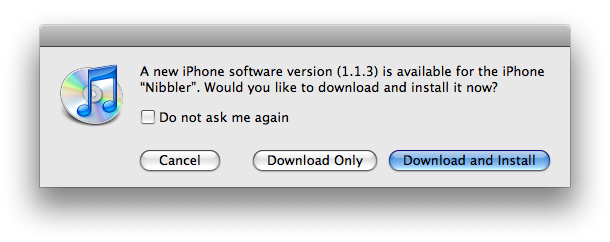 Apple iPhone 1.1.3 Firmware Update Now Available