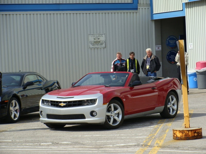 Pre-Production Chevy Camaro Convertible Caught Outside Oshawa Plant