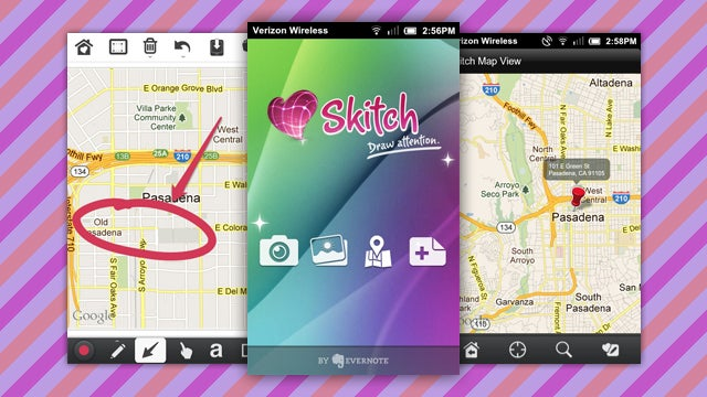 Skitch for Android Adds Maps Annotation, SD Card Saving, and More