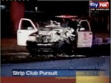 Van Man Slams Strip Club, Totals LAPD Squad Car
