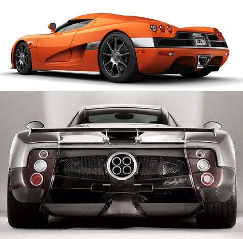 Koenigsegg CCX vs. Pagani Zonda