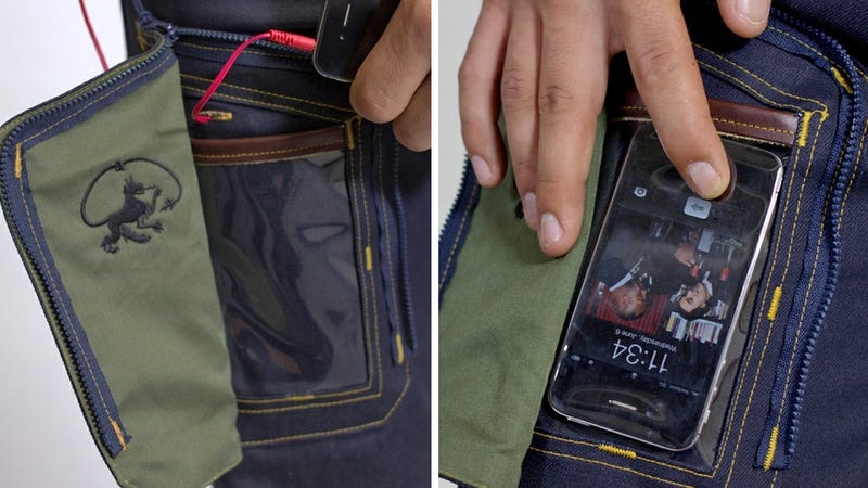 Yep, Jeans With a See-Through Pocket For Your Phone Sadly Do Exist