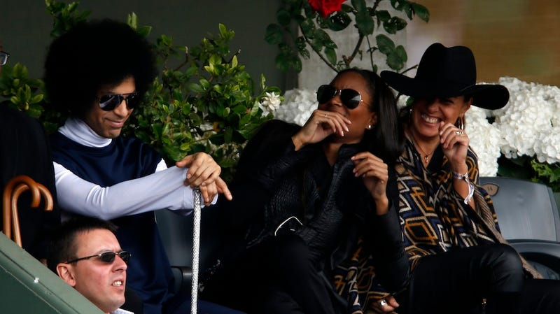 Prince At The French Open With A Scepter