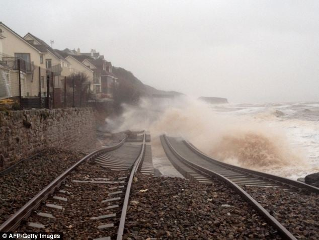 What the main line into the south west of England currently looks like...
