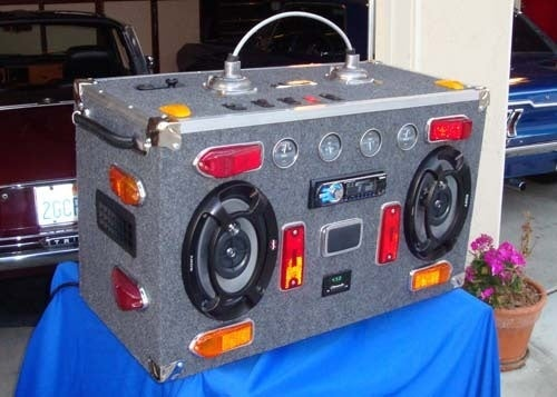 Junkyard Boombox Virus Spreads: Meet The Catbox, Featuring Genuine Lucas Electrics!