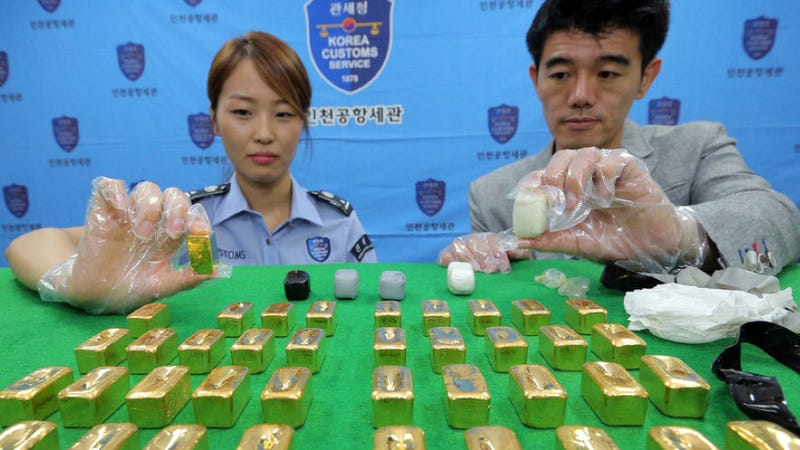 Three Million Dollars in Gold Allegedly Smuggled in People's Buttholes