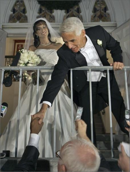 Charlie Crist Forced To Kiss Woman