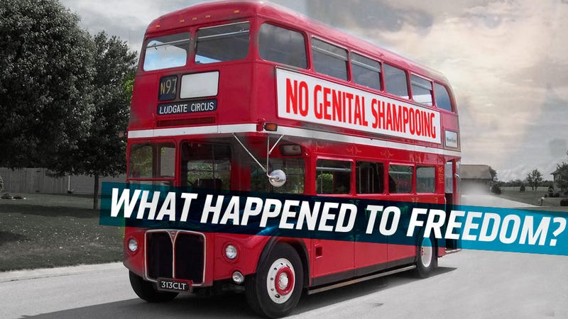 Fascist Brits Won't Even Let You Shampoo Your Junk On The Bus