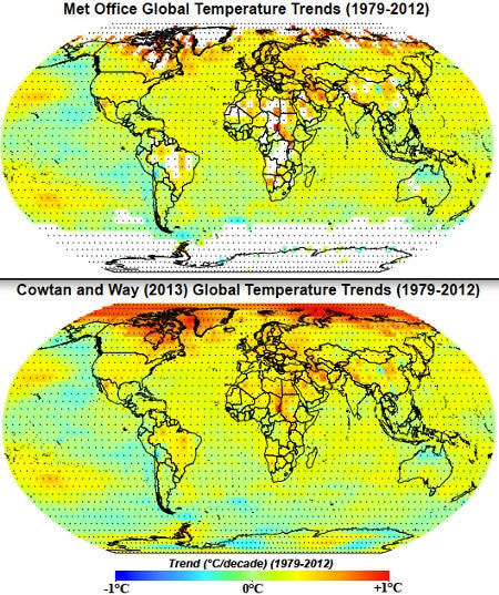 "The ""pause"" in global warming comes from bad data"