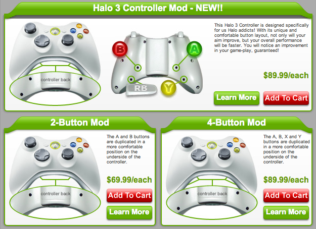 Xbox 360 Controller Mod Has Duplicate Buttons in the Rear