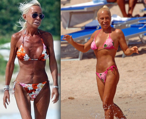 Who Is Donatella Versace's Topless, Sun-Scorched Doppelgänger?