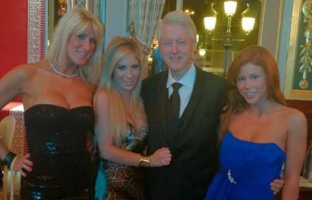 Bill Clinton Caught on Camera Hanging Out with Porn Stars at a Monte Carlo Casino