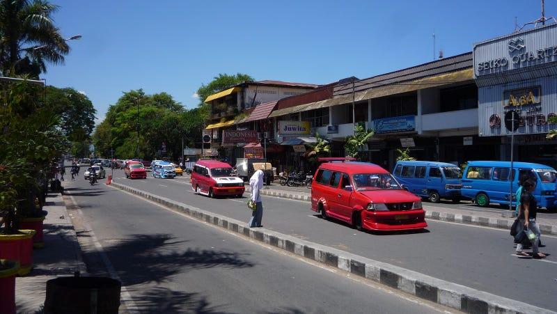 The Kandy-Kolored Microbus Fleet of Padang, Indonesia