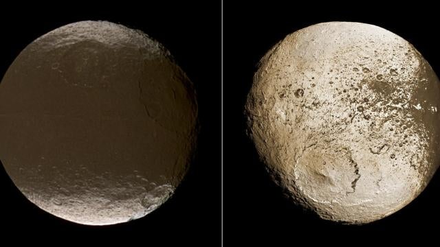 Iapetus is Saturn's amazing disappearing moon