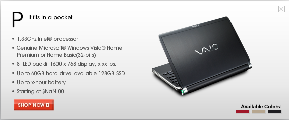 Sony Vaio Pocket: The Fancy Mystery Netbook Leaked