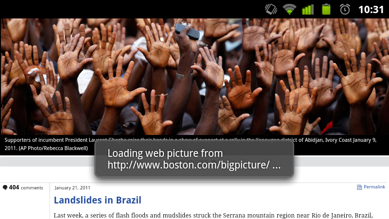 WebLiveWallpaper Sets Web Sites or Image Galleries as Your Android Wallpaper