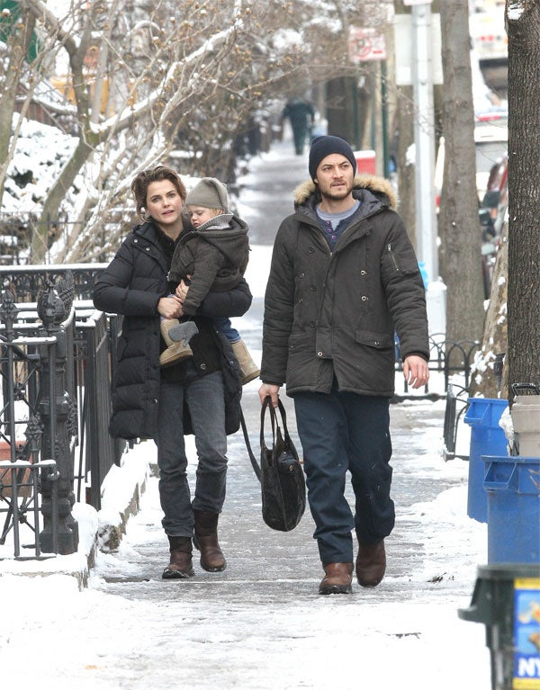 Keri Russell's Boy's Boots Were Not Made For Walking