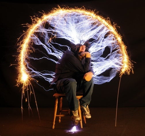Strangely, The Man In This Electrifying Photo Is Not Dead Today