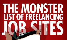 "FreelanceSwitch's ""Monster List"" of Freelance Job Sites"