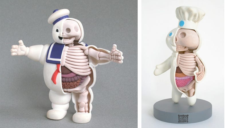 The secret anatomy of toys and animated movie characters