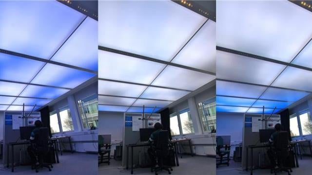 Improve office productivity by working under fake clouds!