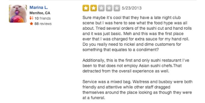 The Dumbest Restaurant Reviews on Yelp