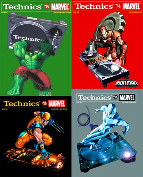 Technics vs. Marvel Shirts Are Perhaps the Most Incredible Shirts Ever