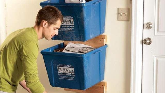 Hang Your Recycling Bins for Easier Access