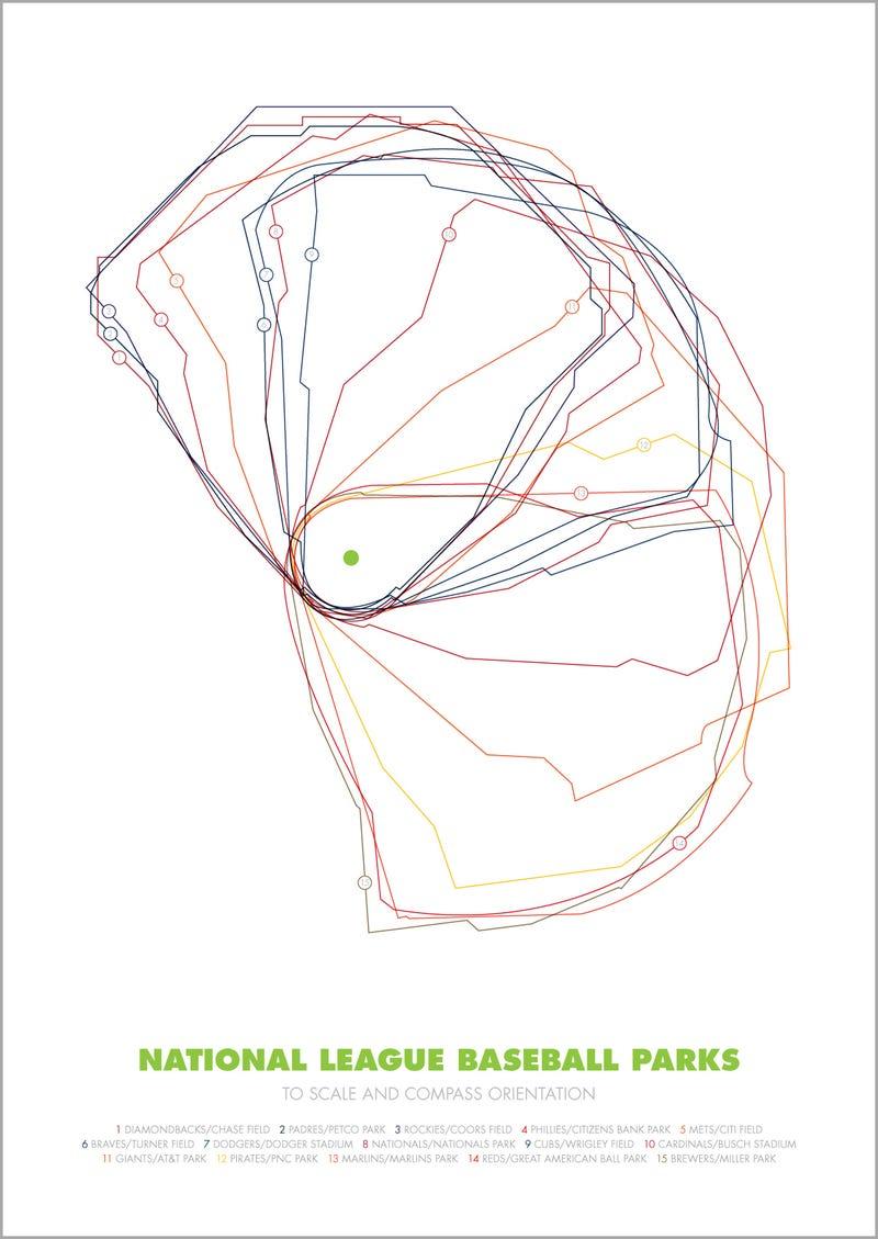 Infographics: Overlaying The Ballparks Of Major League Baseball