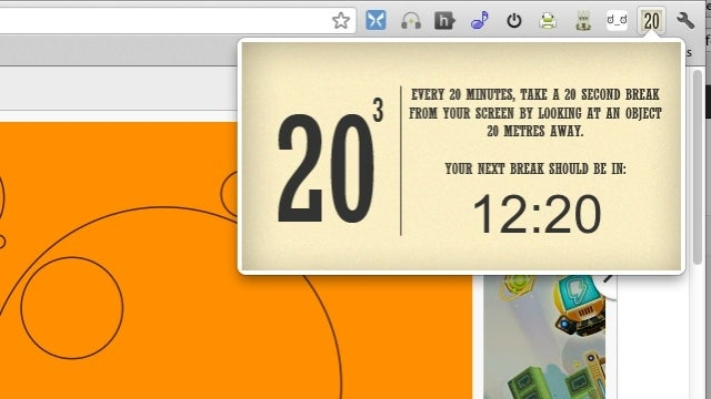 20 Cubed for Chrome Reminds You to Rest Your Eyes and Take a Break