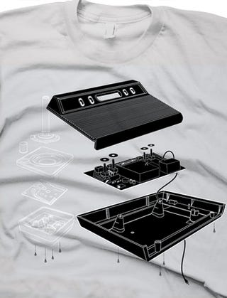 In Case of Rapid Atari 2600 Disassembly, Consult This T-Shirt