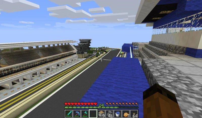 A Minecraft Wizard Built This Exact Replica Of Le Mans In Four Months