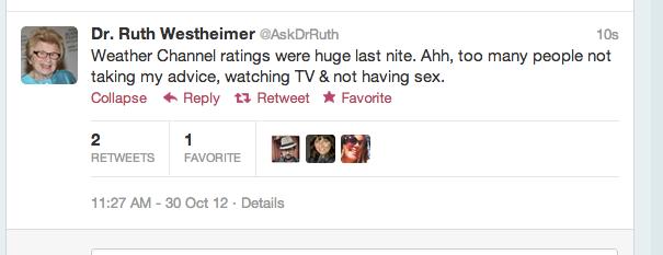 Dr. Ruth Tells it Like it is