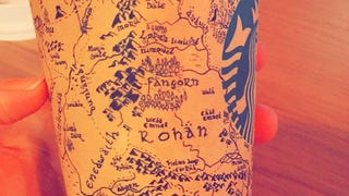 Middle Earth On A Starbucks Cup