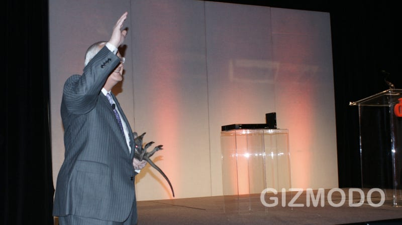 Dish Network CEO Scares the Hell Out of a Kangaroo By Bringing It Onstage