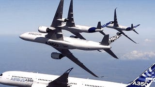 Watch Airbus' mad stunt w