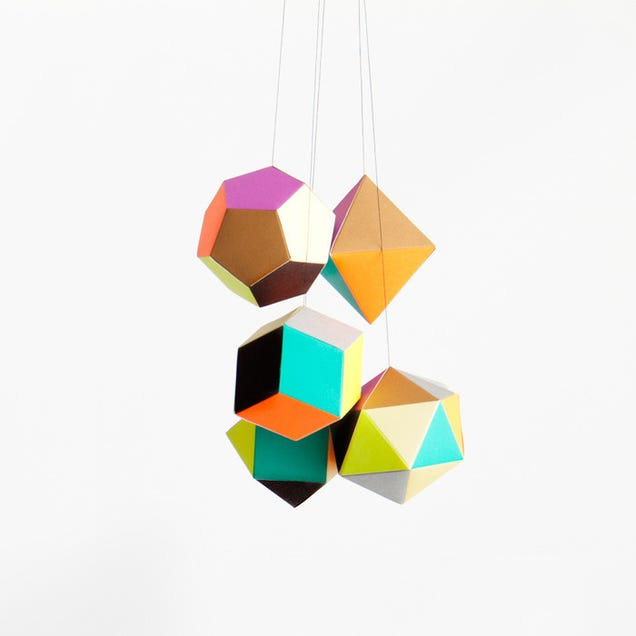 Hang These Polyhedrons Wherever You Need Some Colorful Geometry