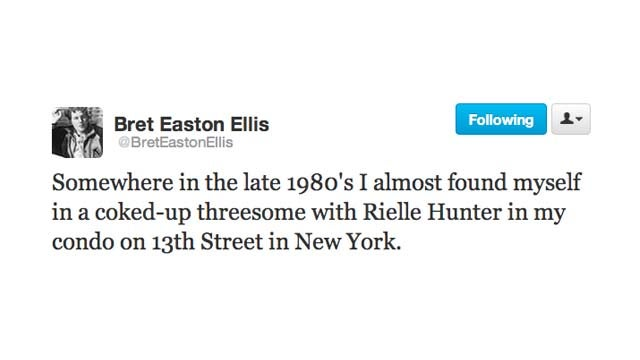 Bret Easton Ellis and Molly Ringwald Reminisce About an Old Threesome with Rielle Hunter