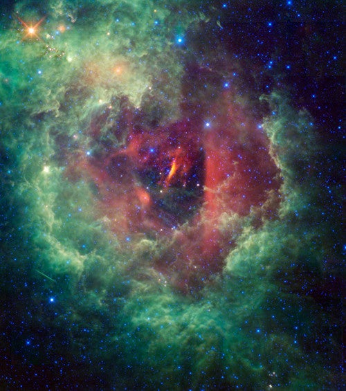 Rose-shaped nebula is home to the amateur astronomer's favorite star cluster