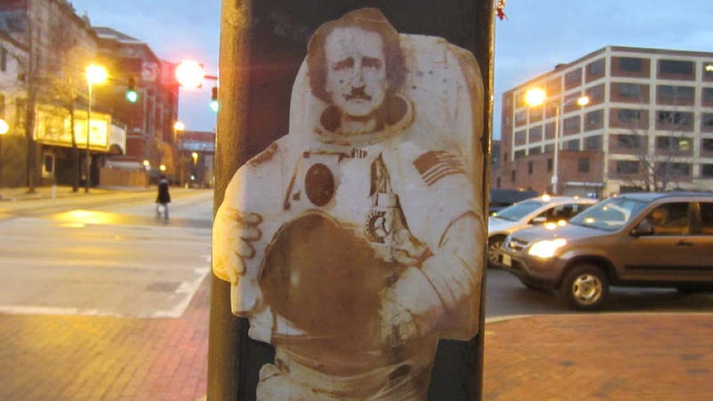 Would Edgar Allan Poe have made a great astronaut, or the greatest astronaut?