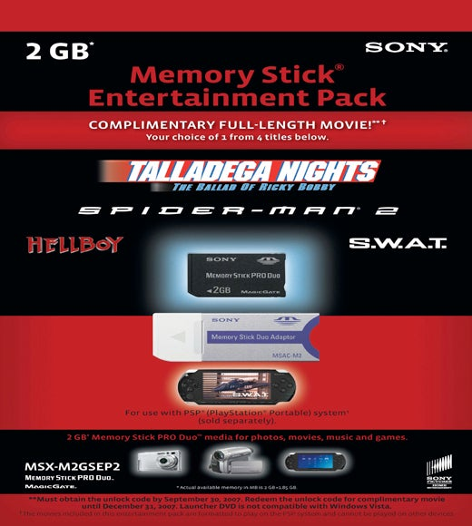Sony Updates 2GB PSP Entertainment Pack with 4 Movies