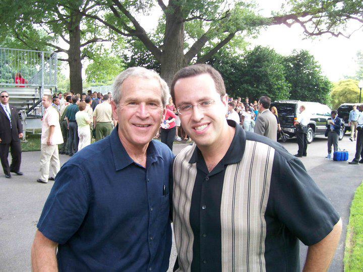 Here's a Photo of Subway Jared and George W. Bush Hanging Out