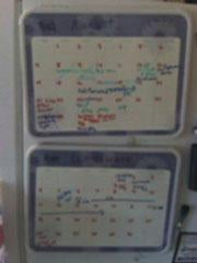 Coordinate schedules with whiteboards