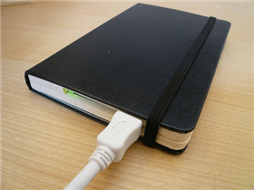 DIY Moleskine external hard drive