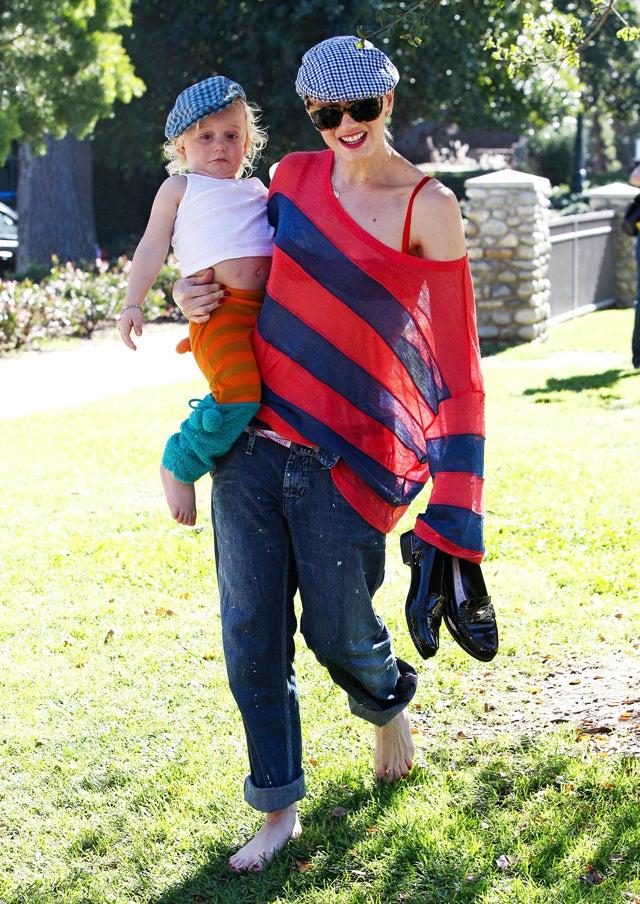 Gwen Stefani & Zuma Rossdale Rock Matching Hats