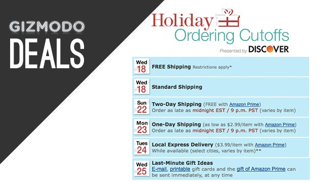 Today Is The Last Day To Holiday Shop From Amazon, Without Prime