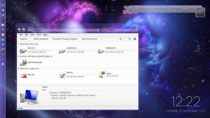 Minimal desktop for maximum workspace