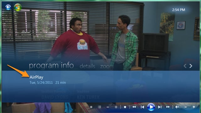 Stream AirPlay Videos to Windows with a Windows Media Center Plug-In