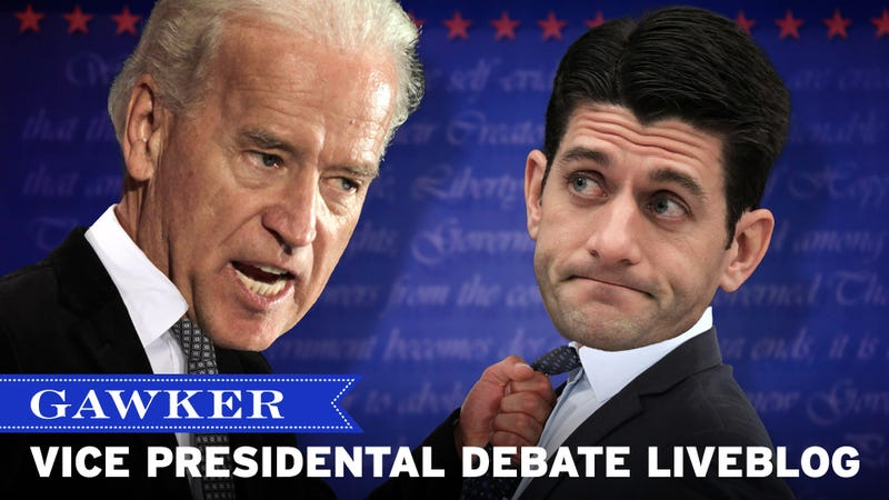 One Nation Under Paul Ryan's Bicep: The Gawker 2012 Vice Presidential Debate Liveblog